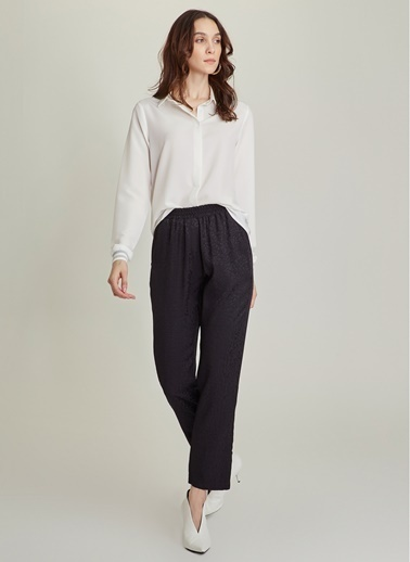 Ng Style Kendinden Desenli Jakarlı Pantolon Siyah